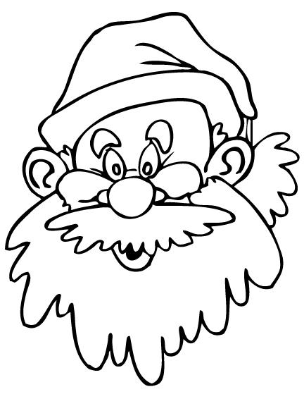 Disegni Babbo Natale: Babbo Natale da colorare
