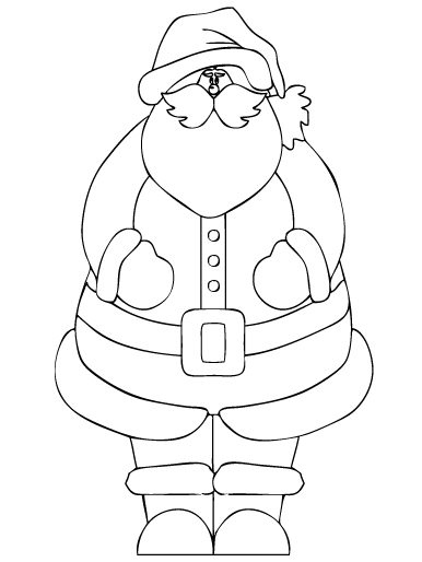 Disegni Babbo Natale: Babbo Natale in posa