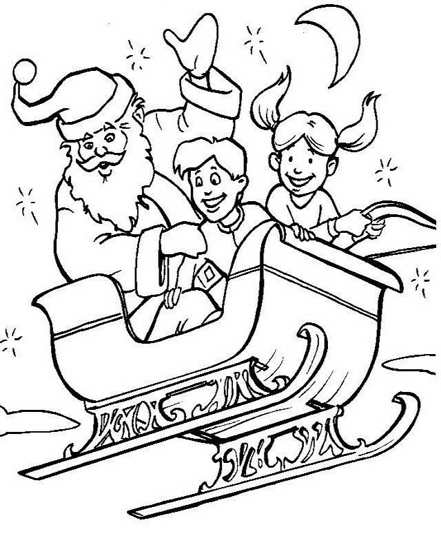 Disegni Babbo Natale: Disegno Babbo Natale con bambini
