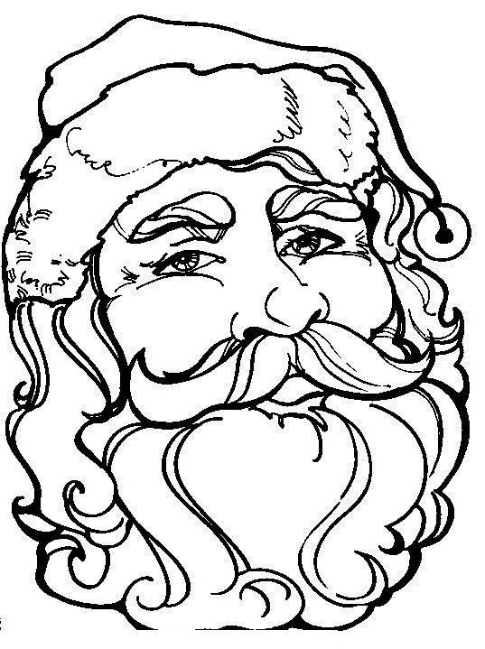 Disegni Babbo Natale: Volto di Babbo natale