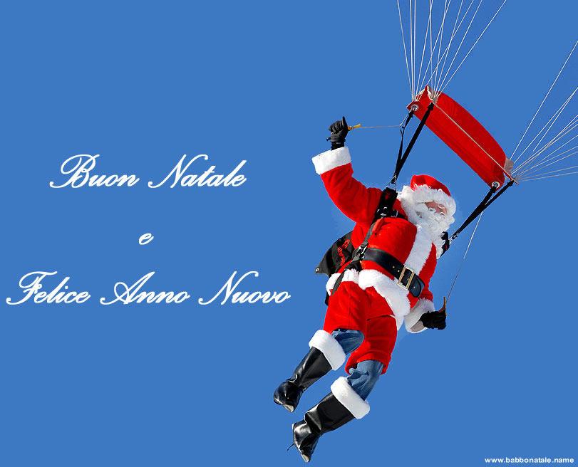 Immagini Babbo Natale - Babbo Natale con paracadute
