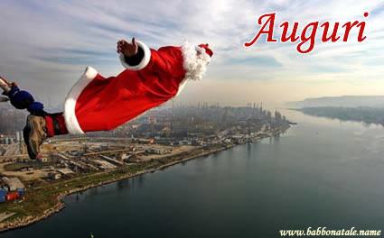 Immagini Babbo Natale - Babbo Natale lancio con elestico