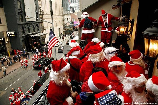 Immagini Babbo Natale - Babbo Natale invasione