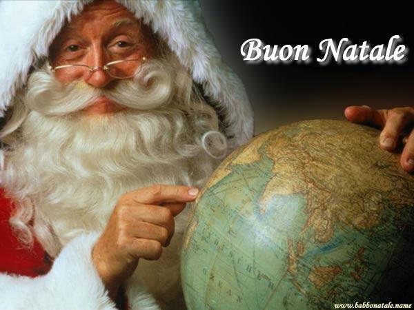 Immagini Babbo Natale - Mappamondo Babbo Natale