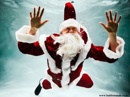 Immagini Babbo Natale - Babbo Natale mare