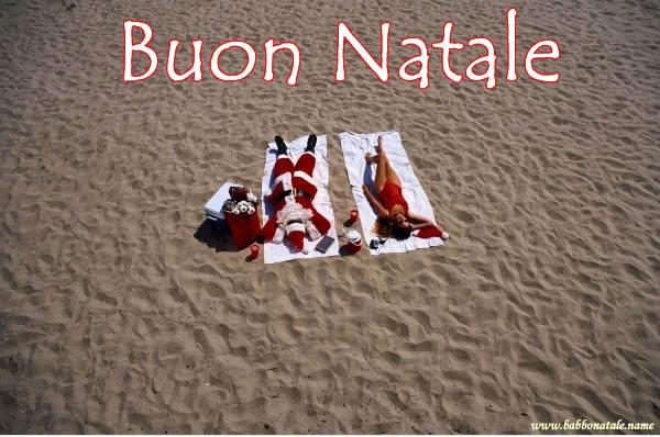 Immagini Babbo Natale - Babbo Natale in vacanza