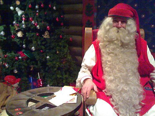 Immagini Babbo Natale - Babbo Natale con Barba lunga