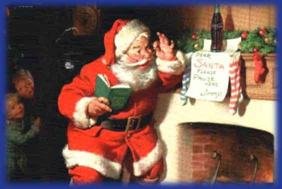 Immagini Babbo Natale - Babbo Natale legge la letterina