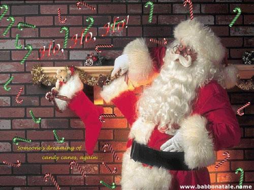 Immagini Babbo Natale - Babbo Natale vicino al camino