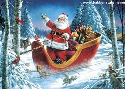Immagini Babbo Natale Con Slitta.Immagini Babbo Natale Immagine Babbo Natale Con Slitta