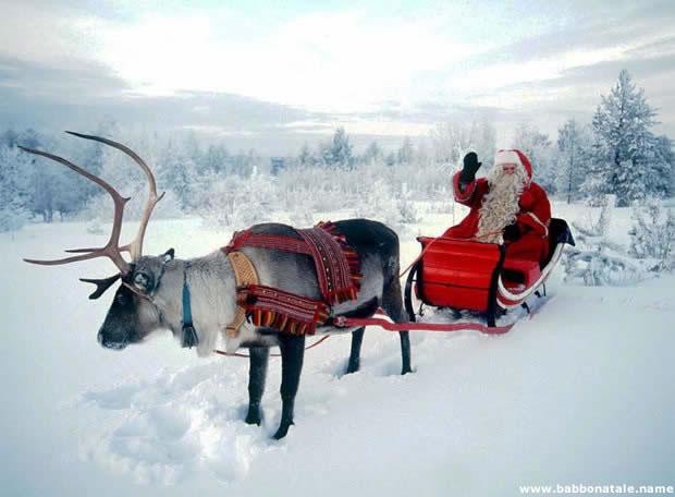 Immagini Babbo Natale - Babbo Natale che saluta