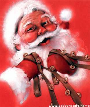 Immagini Babbo Natale - Babbo natale con le redini