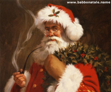 Immagini Babbo Natale - Babbo natale con pipa