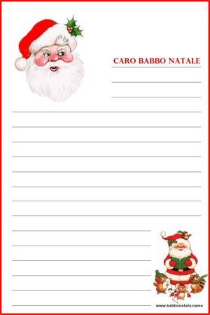 Le Lettere Di Babbo Natale.Lettera A Babbo Natale Da Stampare Stampa La Tua Lettera A Babbo