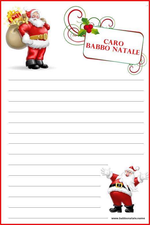 Molto a Babbo Natale: Lettera a Babbo Natale da stampare BV12